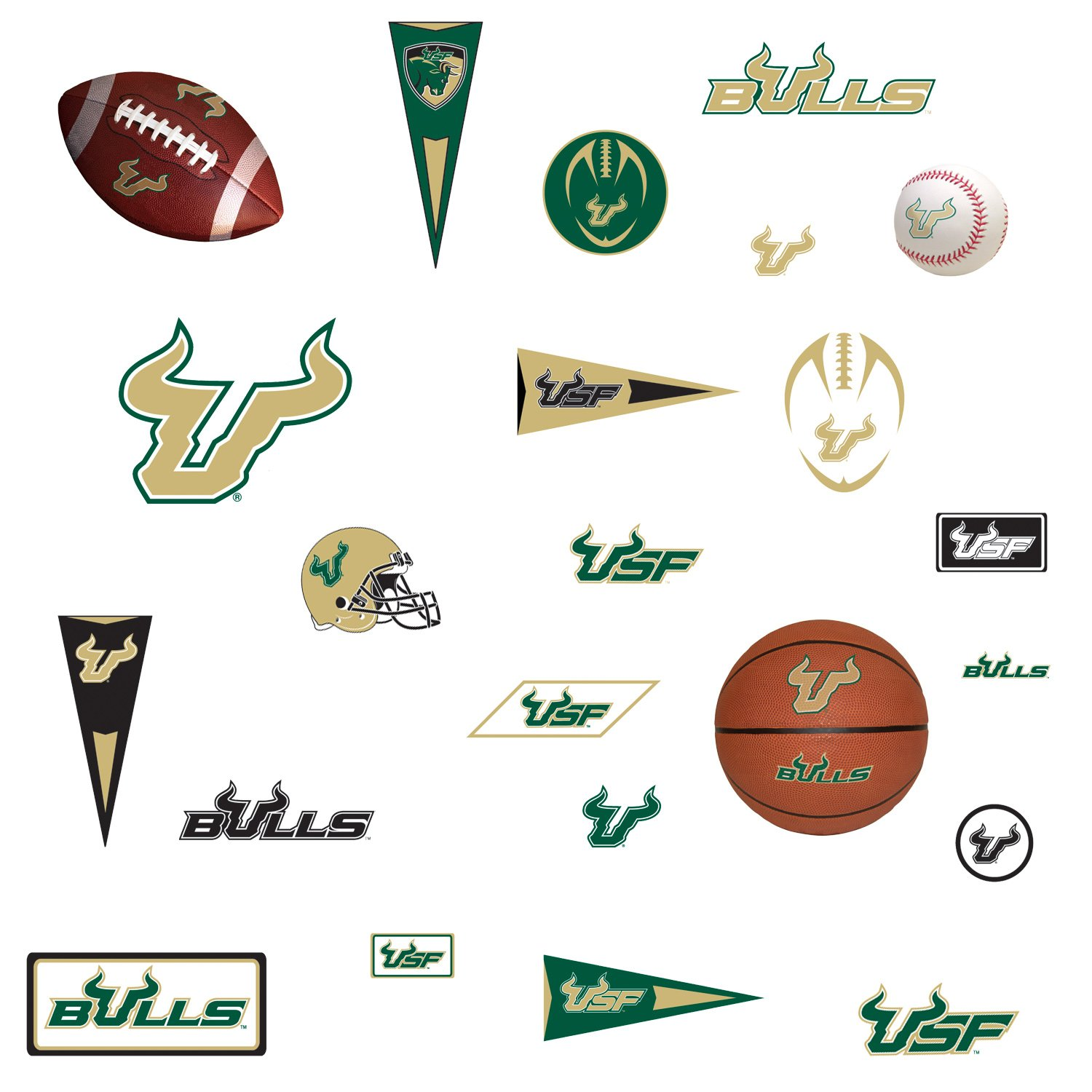 RoomMates RMK1115SCS University of South Florida Peel & Stick Wall Decals