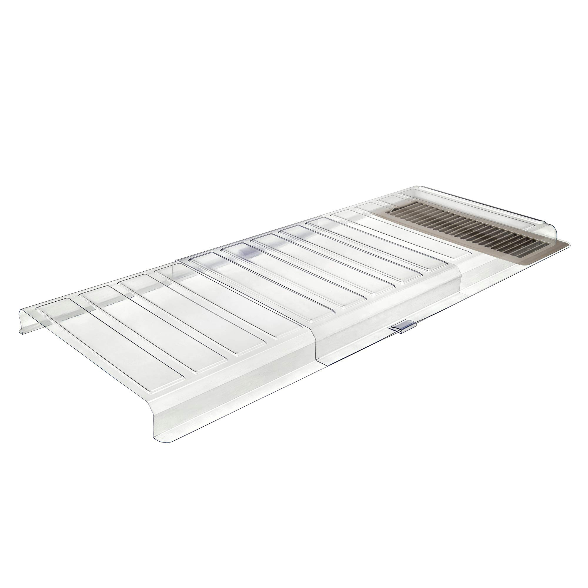 Deflecto Furniture Deflector Air Vent Extender, Linking Clips and Tape Included, For Use with Floor Registers Up to 11'' Wide, Clear (UFAD) by Deflecto