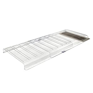 "Deflecto Furniture Deflector Air Vent Extender, Linking Clips and Tape Included, For Use with Floor Registers Up to 11"" Wide, Clear (UFAD)"
