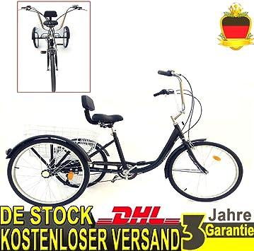 YIYIBY - Bicicleta para Adultos, 6 Marchas, 24 Pulgadas, 3 Ruedas ...
