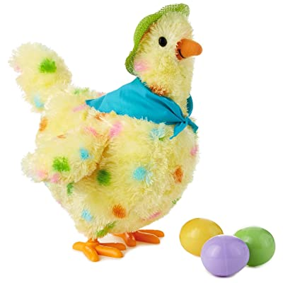 "Squawkin' Egg Droppin' Mama Hen Interactive Stuffed Animal, 10"" Interactive Stuffed Animals Animals & Nature: Home & Kitchen"
