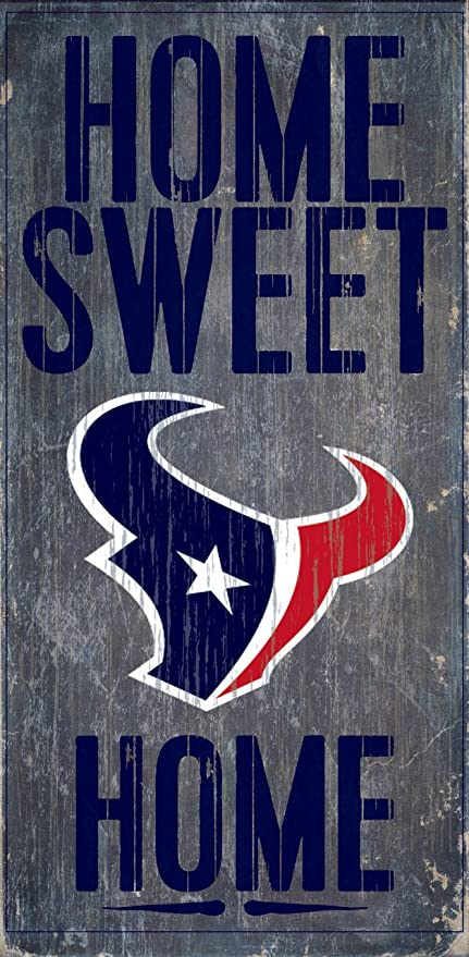 wholesale dealer 437af 0b8d1 Fan Creations Houston Texans Home Sweet Home Wood Sign 12 quot ...