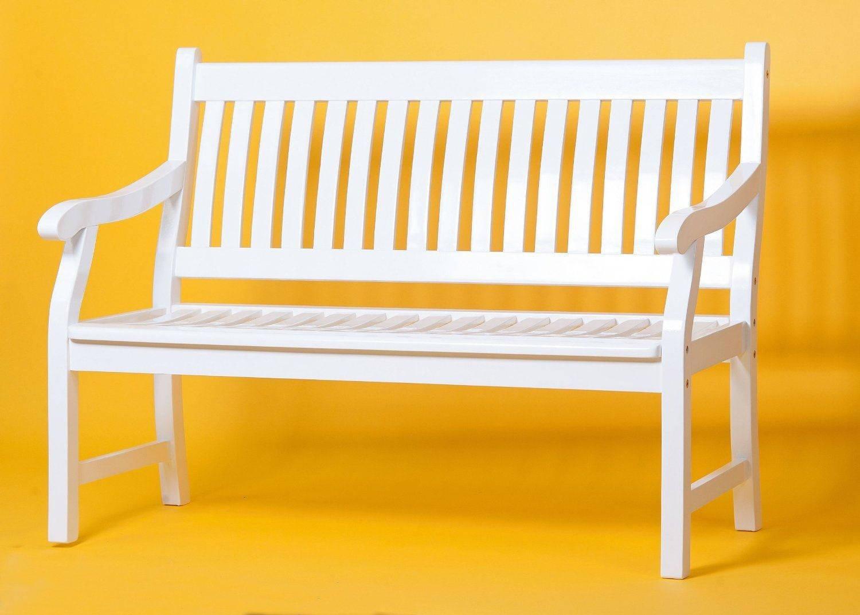 Sedex NEW JERSEY Gartenbank aus Eukalyptusholz FSC 3-Sitzer - weiß