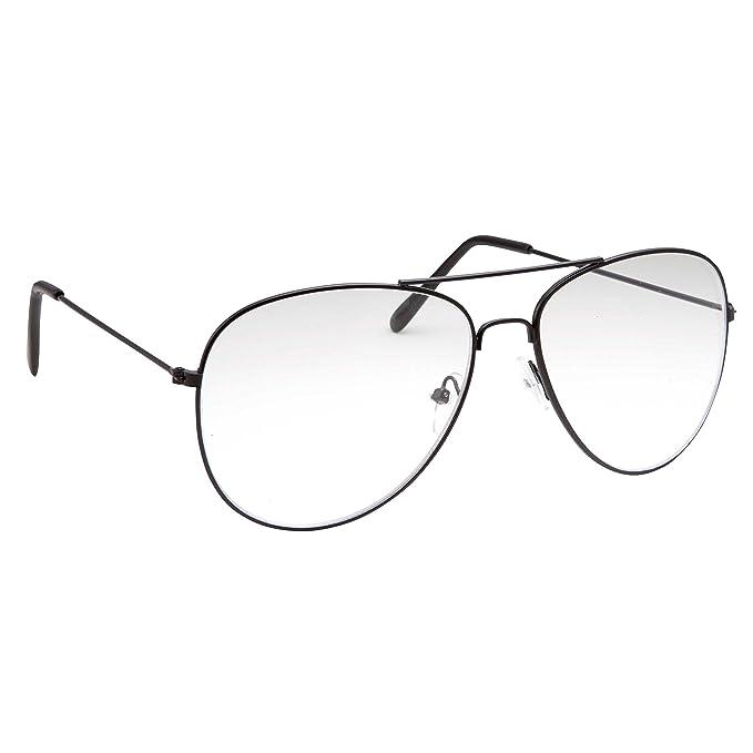 Amazon.com: grinderpunch Aviator – Gafas Lente Transparente ...