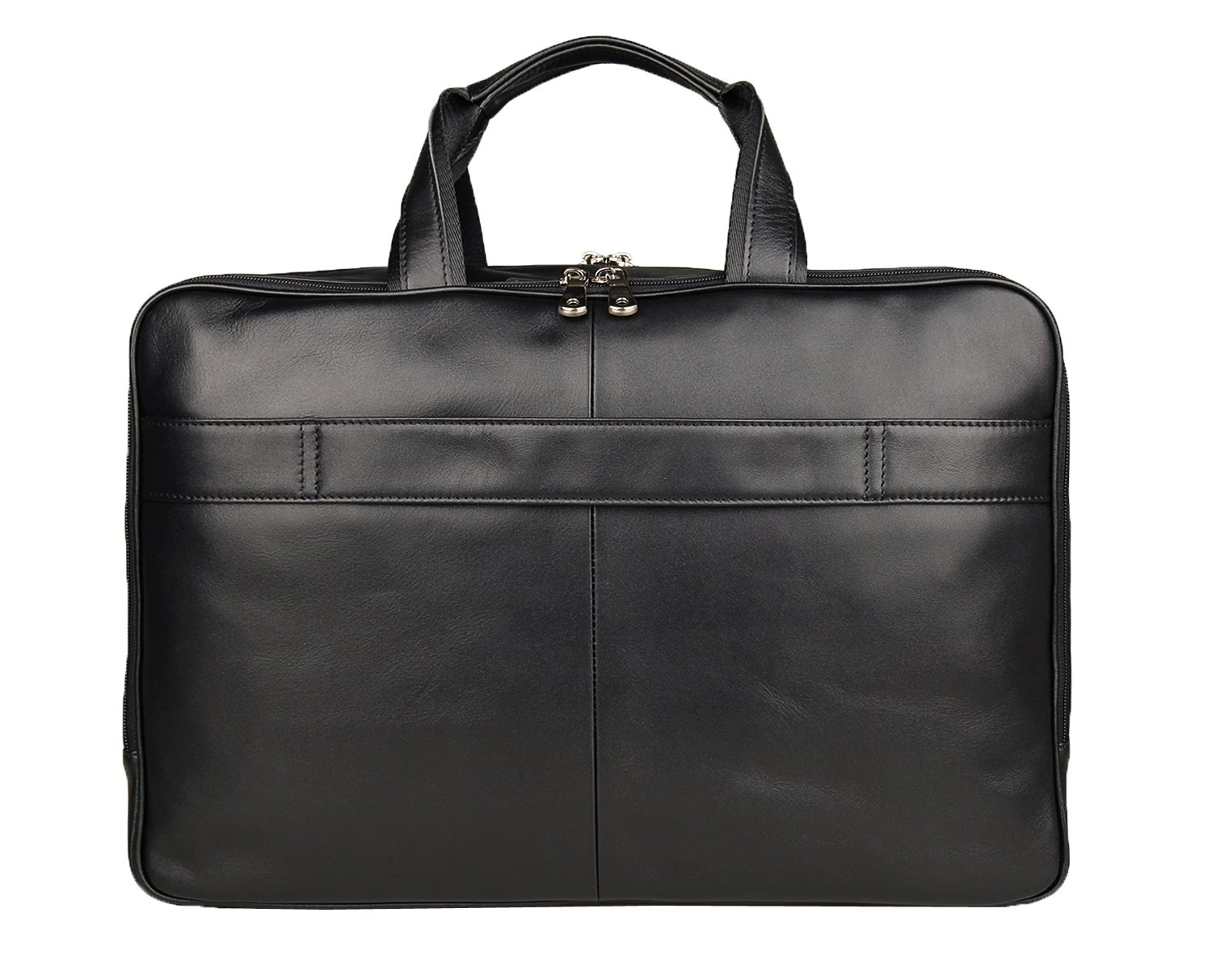 Texbo Men's Genuine Leather Business Trip Briefcase Large Bag Fit 17'' Laptop by Texbo (Image #4)