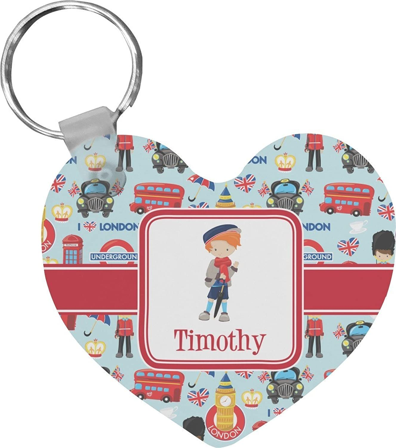 London Heart Keychain (Personalized)