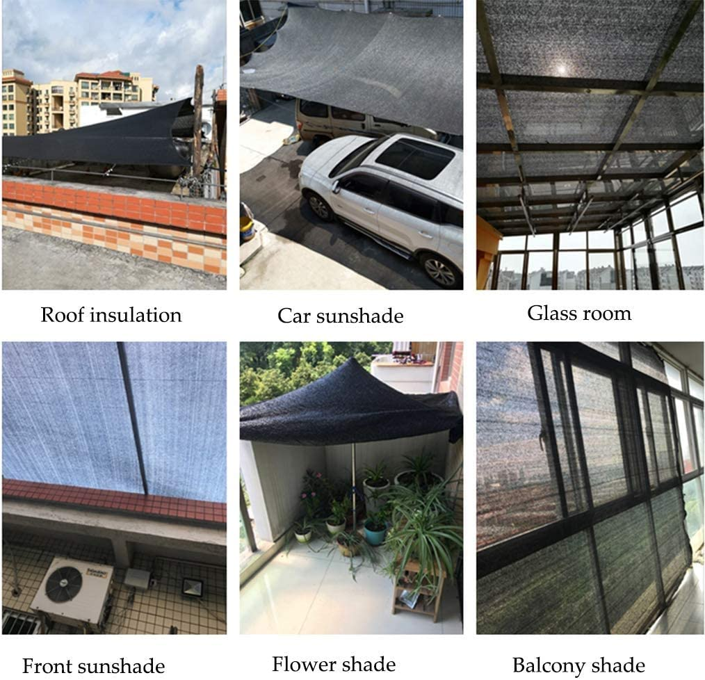 DUCCM 95/% Viaggi Teli Parasole Panno Tenda Parasole Vela Ombreggiante Protettiva dal Sole Balcone Protettiva dal Sole con Anelli per Giardino Cortili Terrazze Balcone