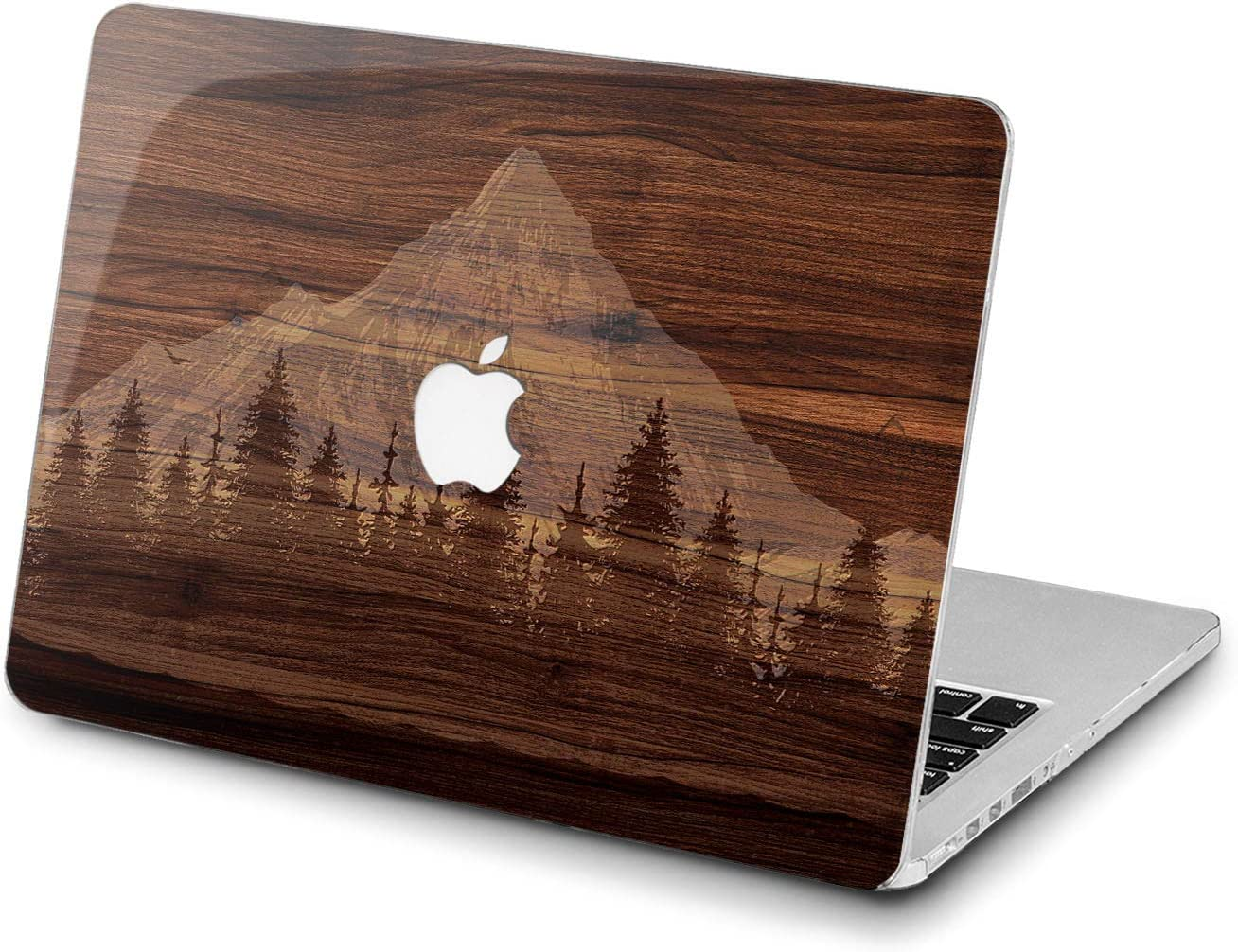 Lex Altern Hard Case for Apple MacBook Pro 15 Air 13 inch Mac Retina 12 11 2020 2019 2018 2017 2016 Texture Women Protective Shell Nature Tree Forest Design Touch Bar Laptop Grain Mountain Wood