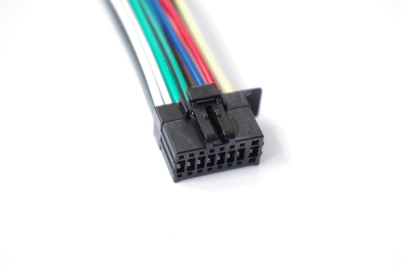 Wire Harness 16 Pin For Kenwood Kmm Bt222u Kdc168u Kdc Peterbilt Radio Wiring Adapter Bt272u Bt322u X501 Bt372u X302 Bt518hd Dpx303mbt Bt572u X502