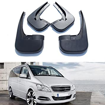 Guardabarros Splash Guards Mud Flaps Guardabarros apropiado para Mercedes Benz Vito Viano W639 (modelos 2012 - 2015: Amazon.es: Coche y moto