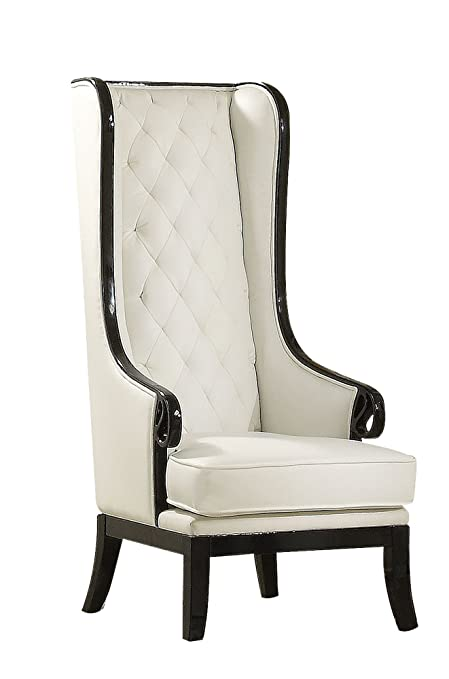 ACME 59128 Parr Accent Chair, Black And White Finish