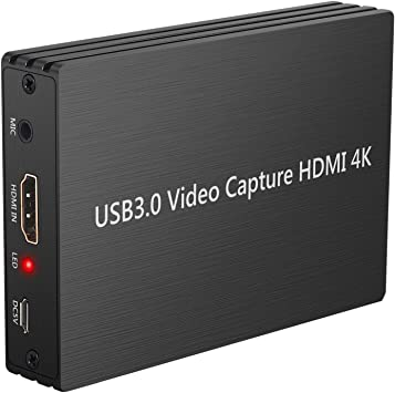 LiNKFOR Tarjeta de Captura de Juegos 4K Capturadora de Video en Vivo 1080p HDMI a USB