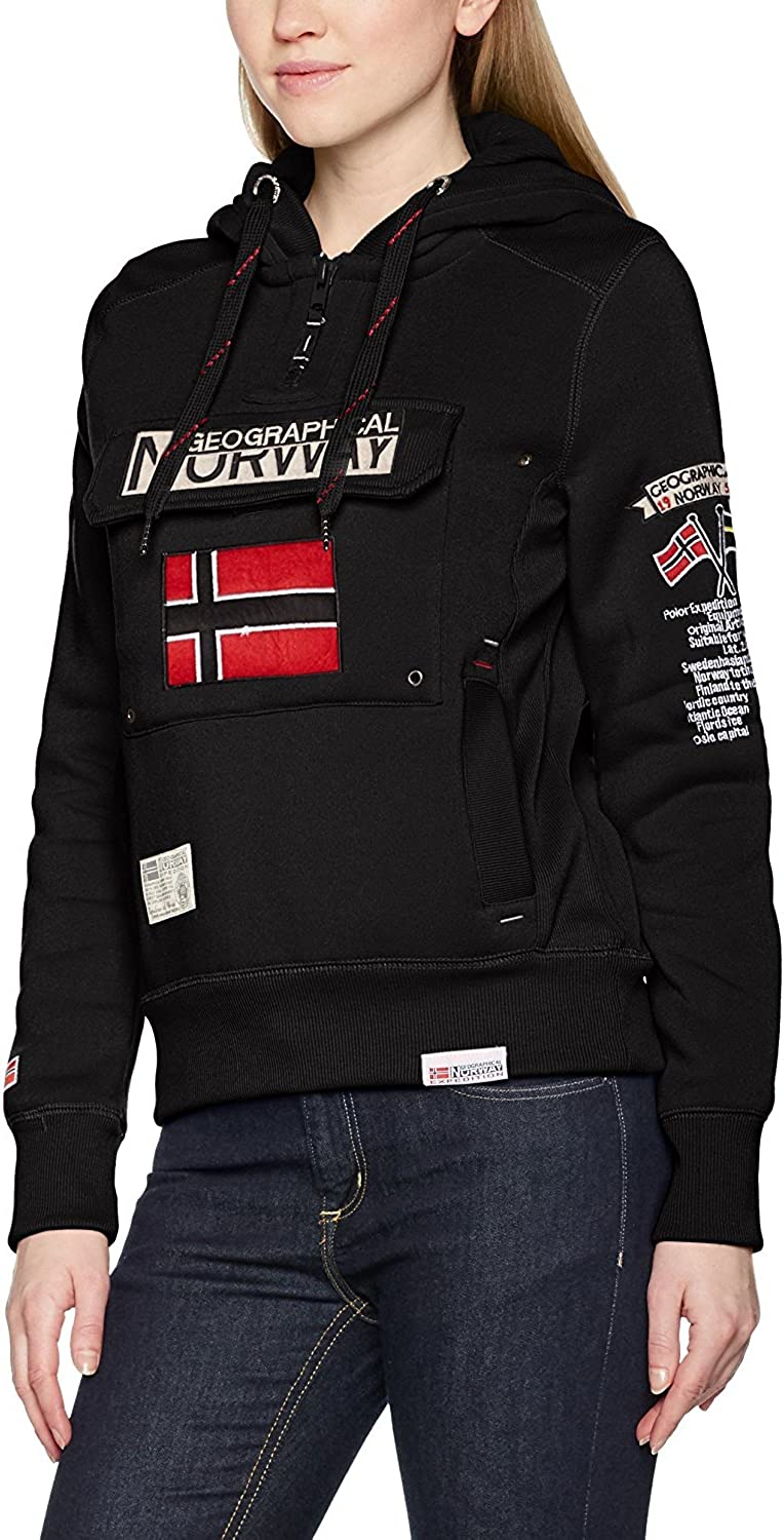 Sudadera con Capucho Para Mujer Geographical Norway GWN832F//GN