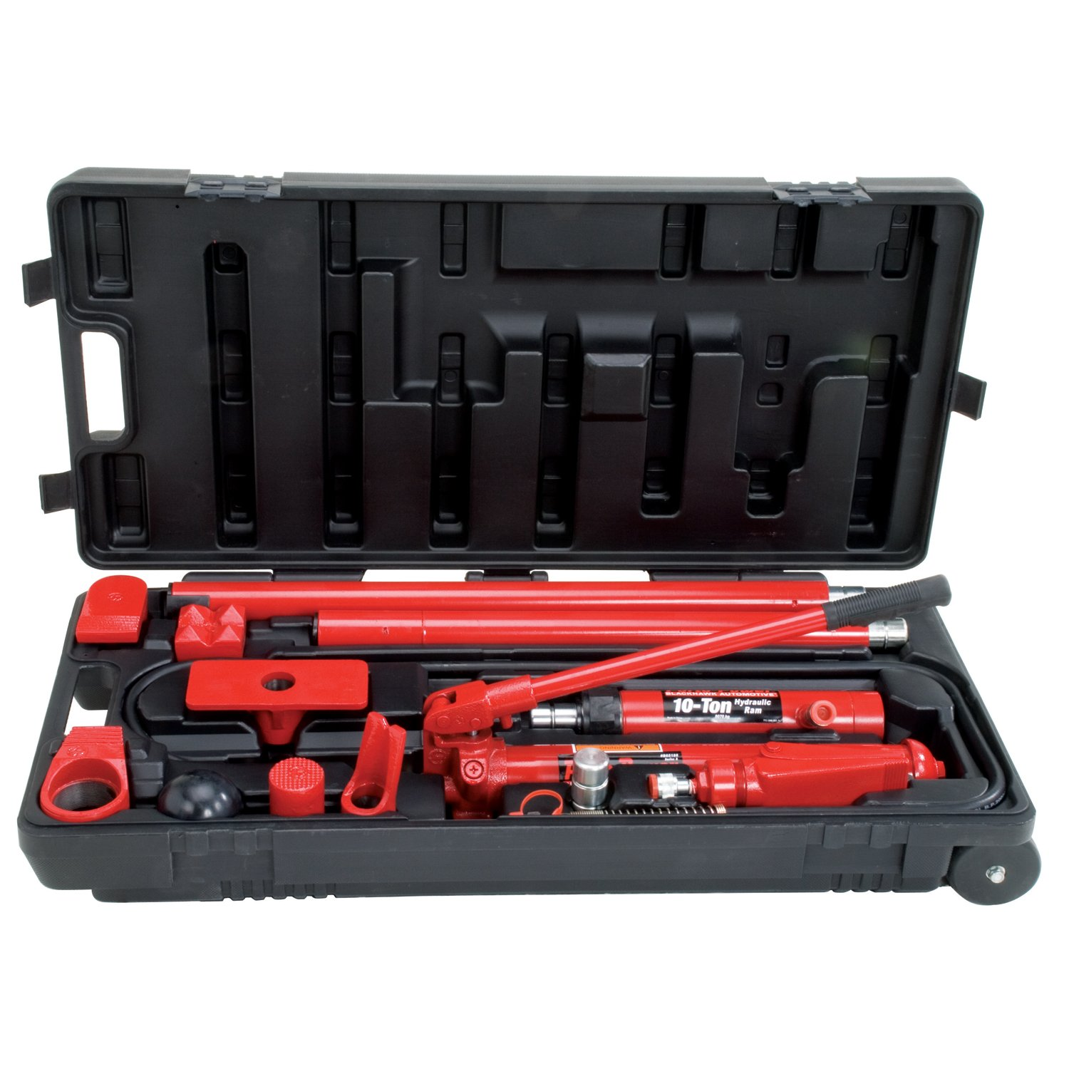 Porto-Power B65115 Black/Red Hydraulic Body Repair 19 Piece Kit - 10 Ton Capacity by Porto-Power (Image #3)