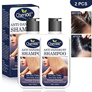 Anti-Dandruff Shampoo, Psoriasis Shampoo, Treats & Prevents Dandruff, Healthy Scalp Treatment, For Dry Flaky and Itchy Scalp, Daily Use Hair Treatment,2pcs