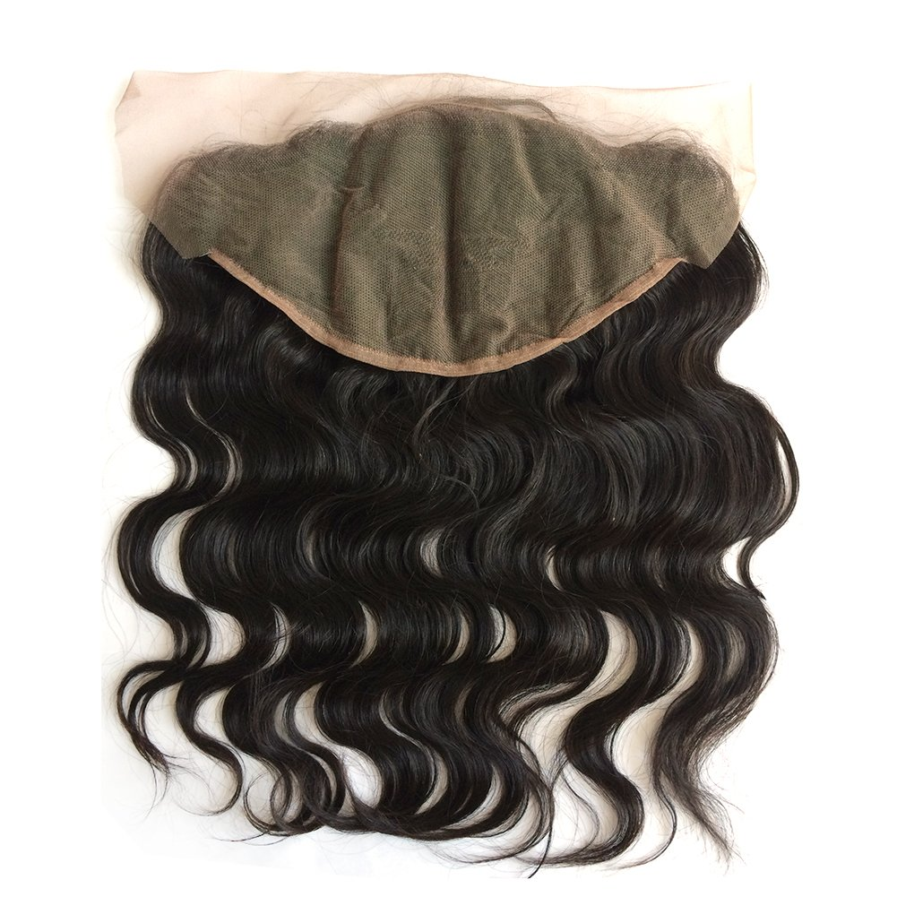 ZigZag Hair 13x6 Lace Frontal Closure Brazilian Virgin Human Hair Pre Plucked Natural Hairline Ear to Ear Full Lace Closure with Baby Hair Natural Color (20'', Body Wave) by ZigZag Hair (Image #3)