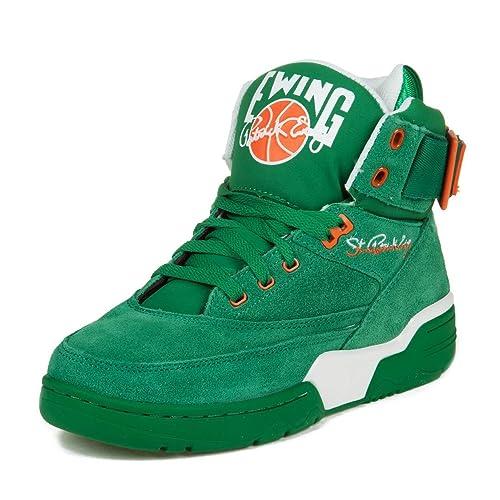Patrick Ewing - Zapatillas de Baloncesto de Cuero sintético para Hombre  Verde Verde  Amazon.es  Zapatos y complementos 29fbe5122ca98