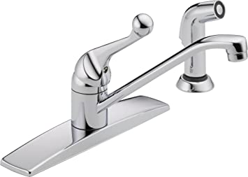 Delta Faucet LFWF Classic Single Handle Kitchen Faucet With - Amazon com delta faucet kitchen sink faucets kitchen faucets