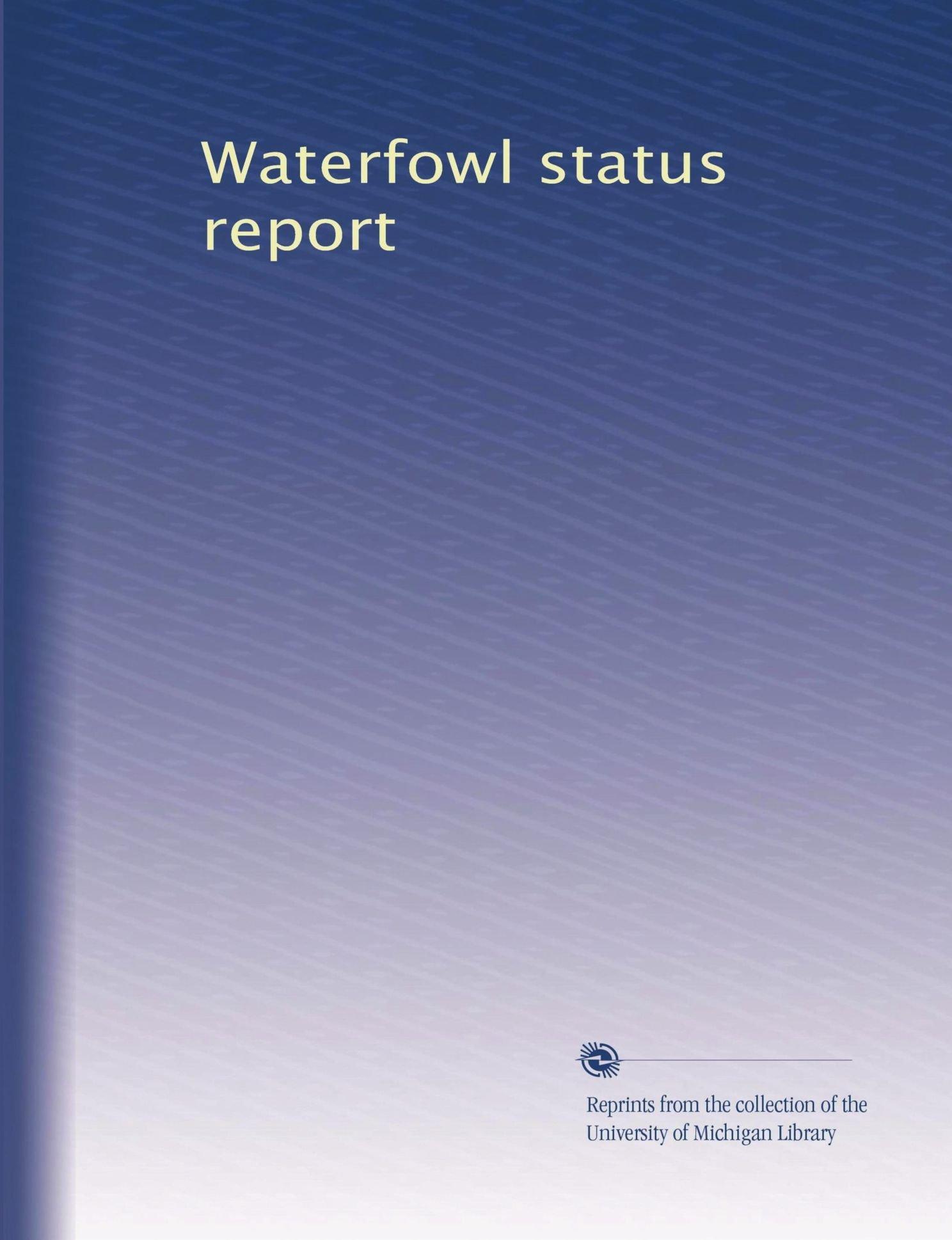Waterfowl status report (Volume 3) PDF
