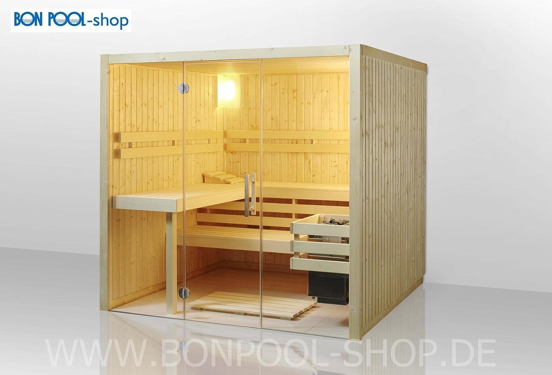 Bon Pool de Juego para sauna, frontal einstieg B X T x h 210 x 180 x 200 BI de O Estufa de 7, 5 kW: Amazon.es: Jardín