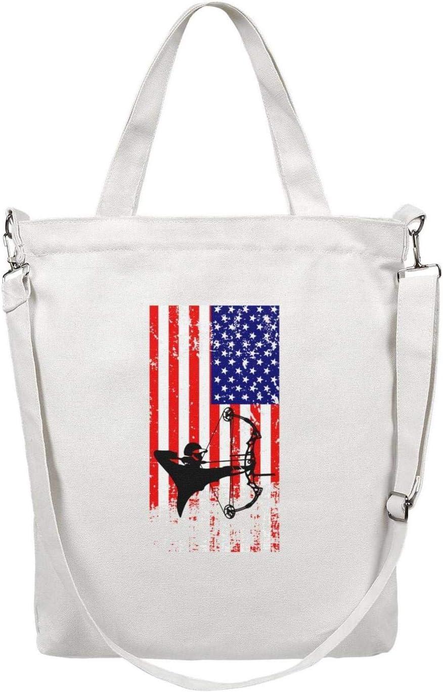 12.5 X 15 Womens Casual Reusable Zipper Shoulder Shopping Crossbody Social Worker Canvas Tote Bag Handbag with Handles