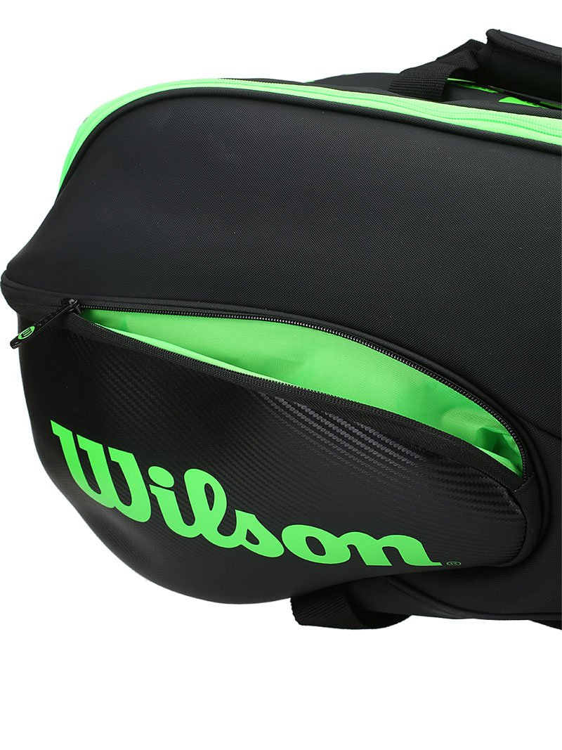 Wilson Blade Collection Racket Bag (15 Pack), Black/Green by Wilson (Image #6)