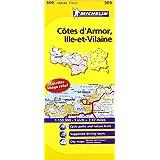 Cotes-d'Armor, Ille-et-Vilaine Michelin Local Map 309 (Michelin Local Maps)