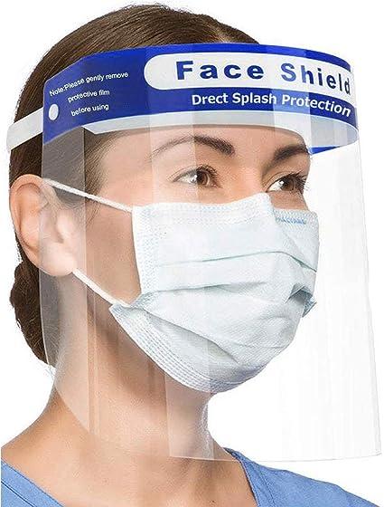 Transparente y Permanente Visor Anti Agua y Comida para la Boca antivaho Protectores Faciales de pl/ástico Reutilizable para higiene Sanitaria