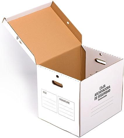 Pack de 5 CAJAS ARCHIVADOR SEGURIDAD TeleCajas (x5) TCAS374640 Automontable con Tapa y Asas para Archivos Definitivos (x5 unidades): Amazon.es: Oficina y papelería