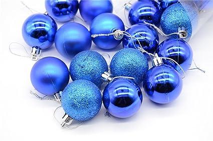 Tozz Pro 21ct Matte Dark Blue Hot Shatterproof Christmas Ball Ornaments 1 56 39mm Dark Blue