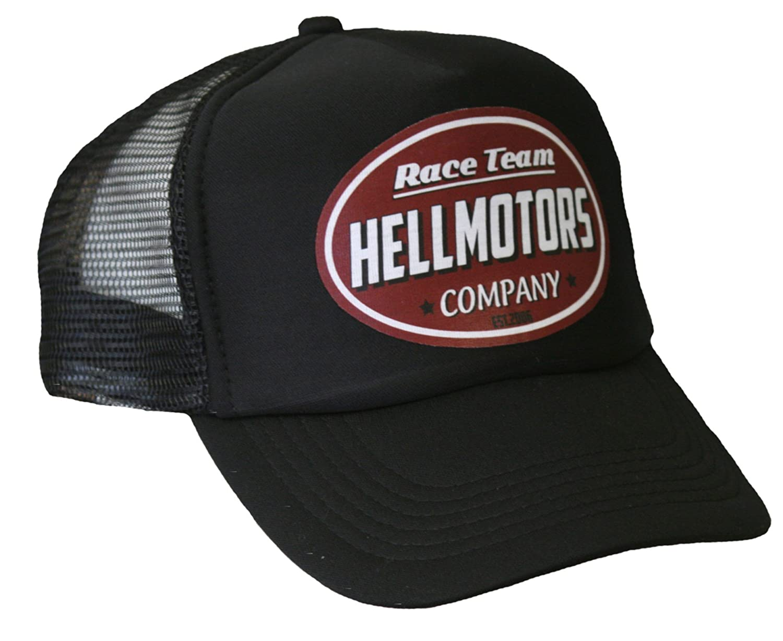 Hellmotors Gasoline Unisex Trucker Cap Oldschool Kappe Hotrod V8 Basecap rot