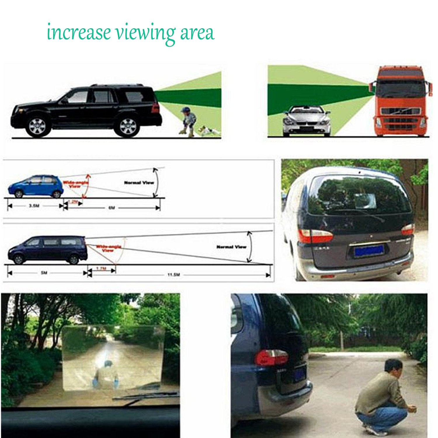 Clear Improves Safety Reduces Blind Spots Behavetw Car Fresnel Lens Rear View Mirror Wide Angle View Parking Reversing Stickers for Your Cars Rear View Back Window