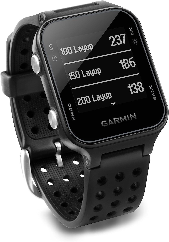 Garmin Approach S20 - Reloj de golf con GPS, Negro (Black)