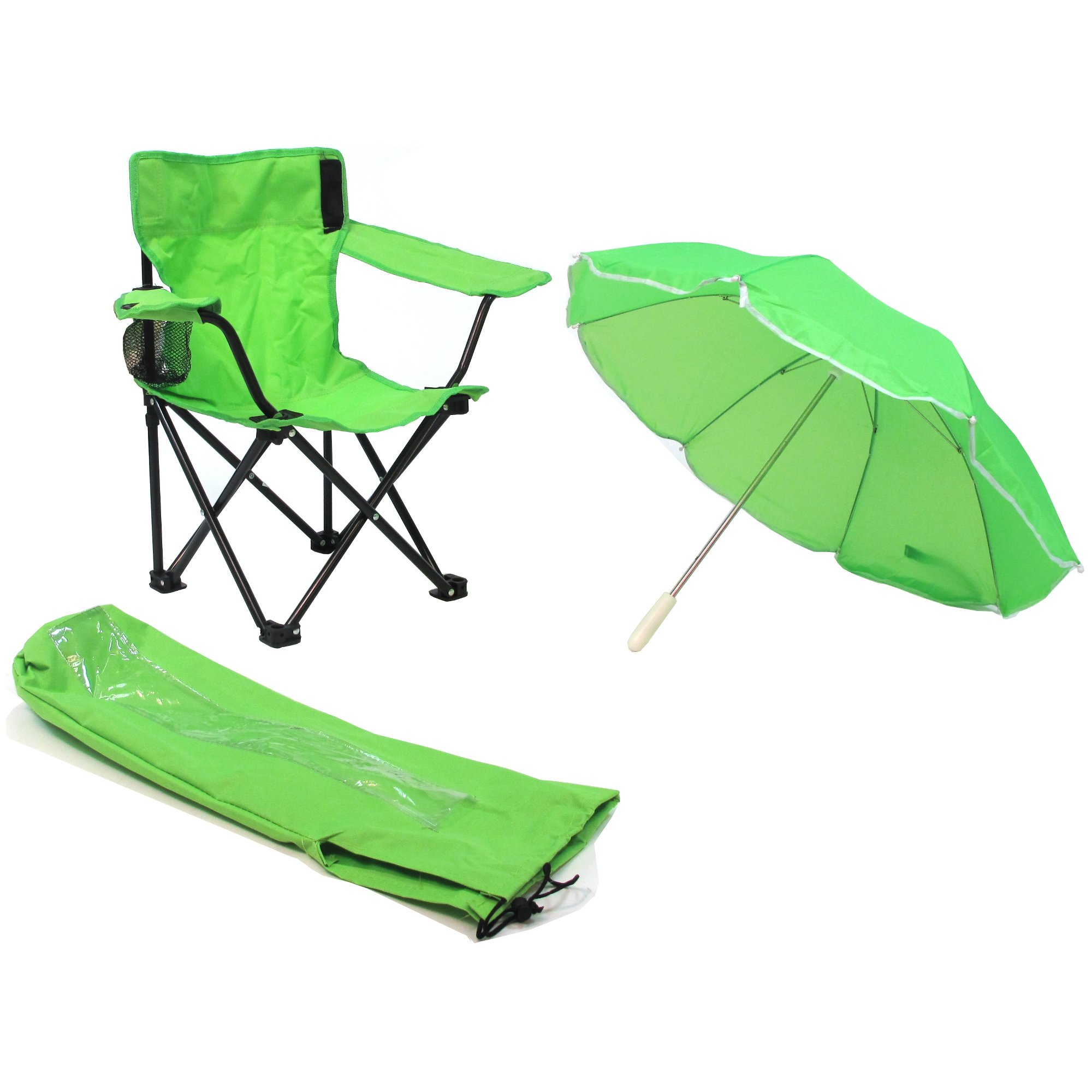 Redmon Umbrella Camping Chair with Matching Shoulder Bag, Lime Green by Redmon (Image #1)