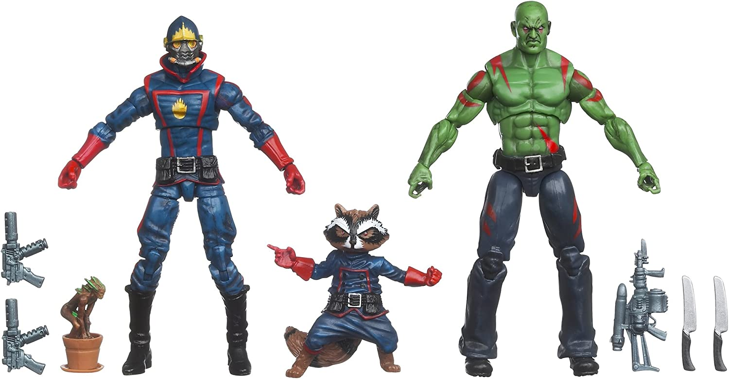 MARVEL  GUARDIANS of the GALAXY 4-Pack Action Figure Box SET ~ Drax GROOT Rocket
