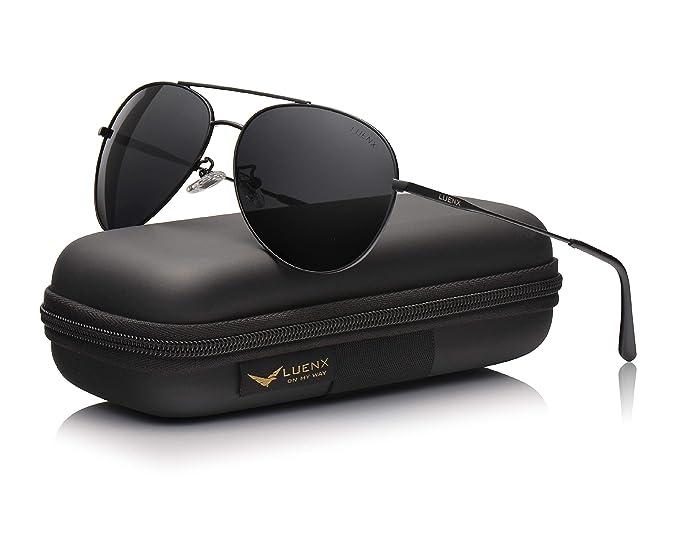 ba96f897cc LUENX - Gafas de sol - para hombre Negro Negro (M: Amazon.es: Ropa y  accesorios