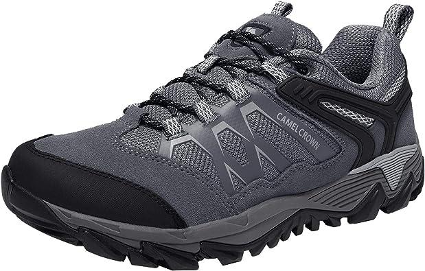 CAMEL CROWN Zapatos de Senderismo para Hombres Antideslizantes Ligeras Zapatillas de Escalada Calzado de Trekking para Correr Alpinismo Gimnasio ...