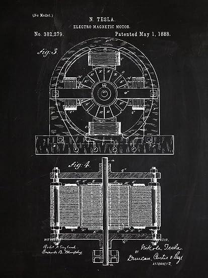 Amazon.com: Nikola Tesla Electric Motor Patent Chalkboard ... on tesla turbine schematics, pneumatic schematics, hydraulic circuits schematics, rube goldberg schematics, lcd tv schematics, tesla generator schematics, hand gun schematics, time travel schematics, logic gate schematics, ufo schematics, radio control schematics, tube radio schematics, backhoe hydraulics schematics, vacuum tube schematics, tube amp schematics, submarine schematics, samsung tv schematics, tesla tower schematics,