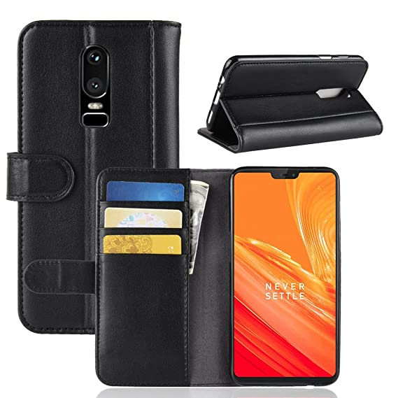 newest f0bbc a0867 Amazon.com: OnePlus 6 Case,OnePlus 6 Genuine Leather Case,OPDENK ...