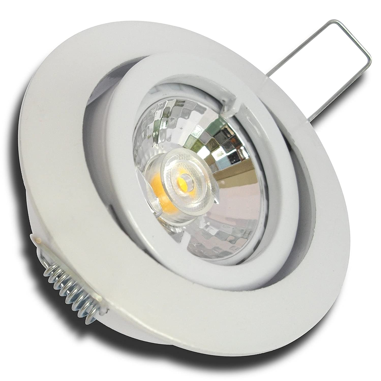 5 Stück MCOB LED Einbauring Lana 230 Volt 5 Watt Schwenkbar Weiß Neutralweiß