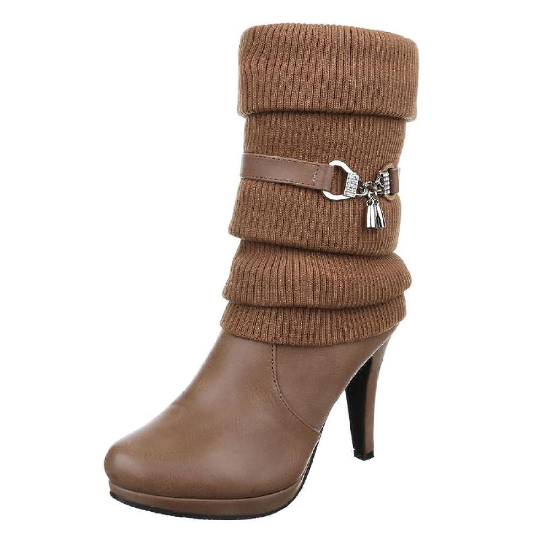 Damen Stiefel/Trichterabsatz/High Heels Stiefel/Stiefeletten/Damenschuhe/Eleganter Stiefel/Khaki/Braun - 2018 Letztes Modell  Mode Schuhe Billig Online-Verkauf