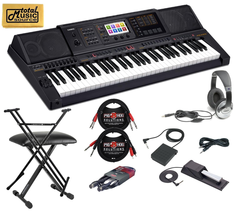 Casio MZ-X300 Arranger Keyboard 61 Key Stage Bundle by Casio