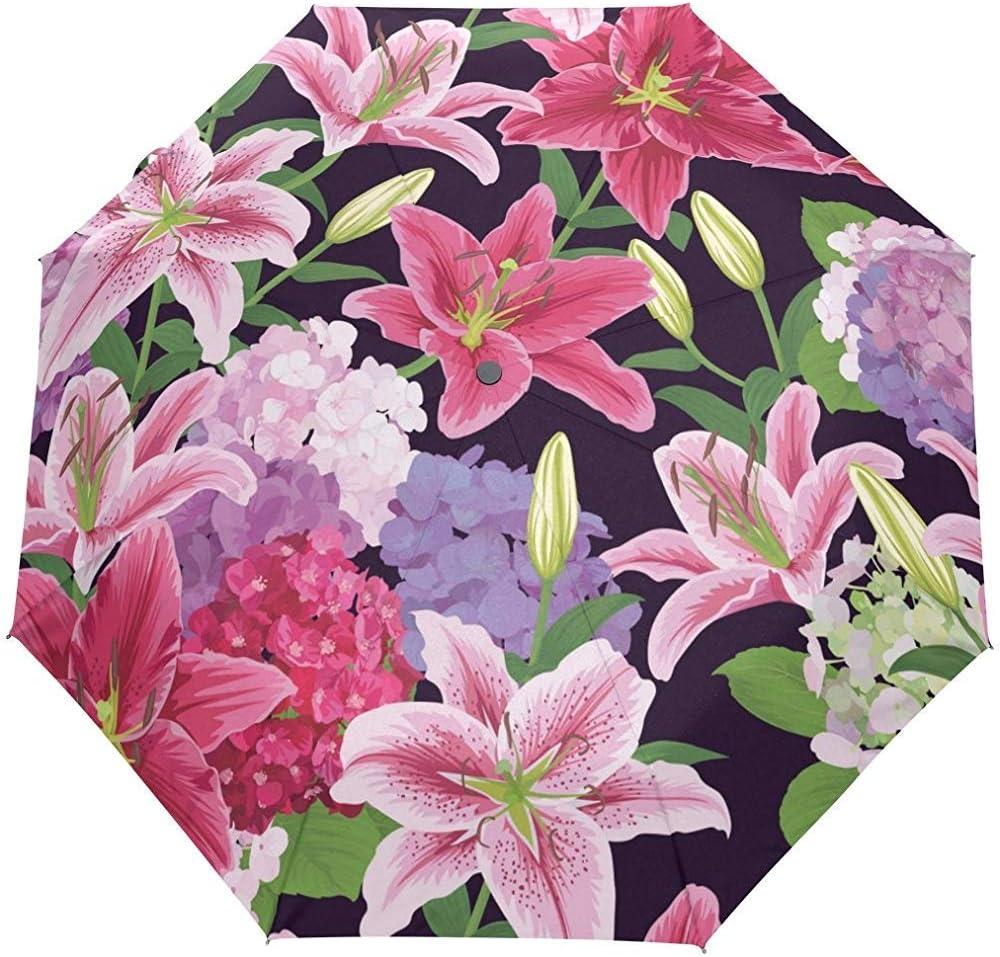 Verano Primavera Floral Flores País Jardín Auto Cerrar Sol Lluvia Paraguas