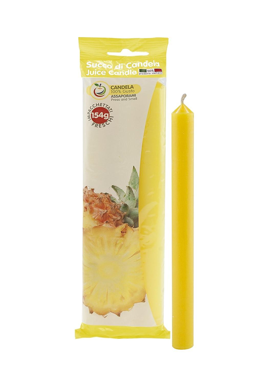 Cereria di Giorgio Succo Candele Profumate alla Frutta, Cera, Giallo, 1.9x1.9x20 cm, 3 unità CESZW FR02103_ANA