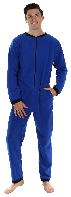 Sleepyheads Men's Sleepwear Fleece Non Footed Color Onesie Pajamas Jumpsuit