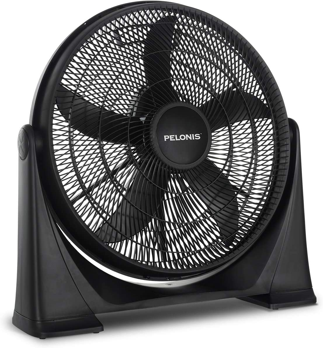 Pelonis 20-Inch 3-Speed Air Circulator with Adjustable Fan Head, Wall Mounted Optional, FB50-17H, 20 Inch Box, Black