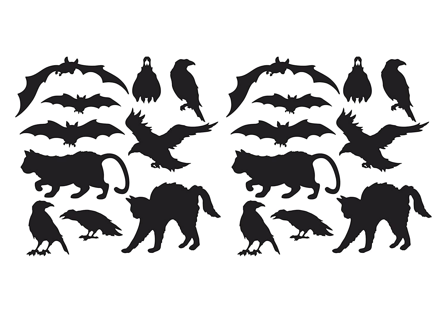2 Pack of 10 Beistle Halloween Silhouettes bundled by Maven Gifts