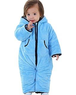 53d1433f2 Amazon.com  Funzies Fleece Baby Bunting Onesie Jacket – Infant ...