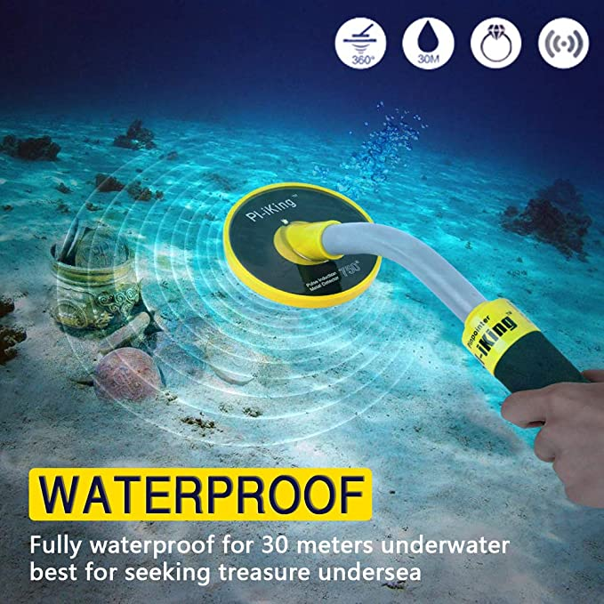 Amazon.com : SHUOGOU 750 Underwater Metal Detector with Vibration and LCD Detection Indicator - PI Waterproof Probe Pulse Induction Technology Metal ...