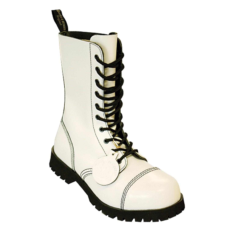 Boots & Braces - 10 Loch Hot Colour White Stiefel Rangers Weiß